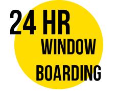 24 HOUR WINDOW BOARDING