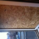 Window boarded in Newcastle