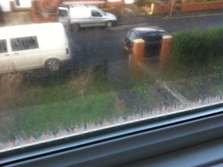 Misted glass Whitley bay before